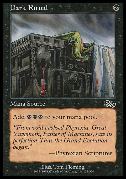 Dark Ritual card from Urza's Saga