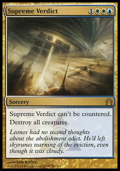 Supreme Verdict original card image