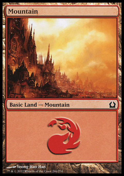 Mountain (266)  card from Return to Ravnica