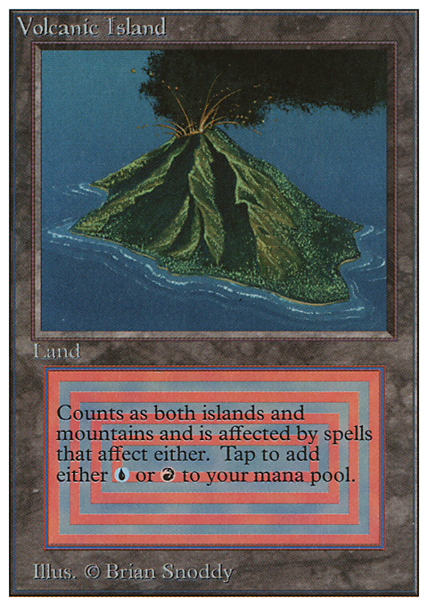Volcanic Island original card image