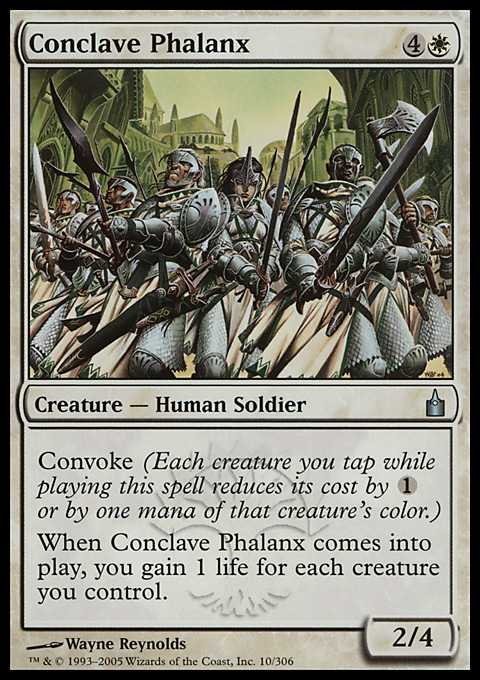 Conclave Phalanx card from Ravnica: City of Guilds
