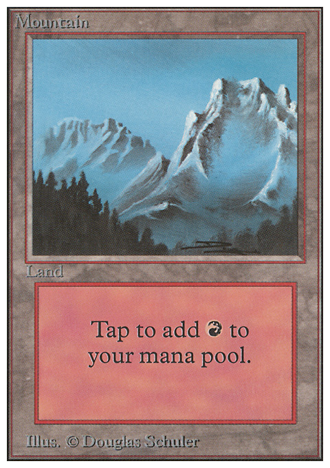 Mountain (B) card from Unlimited Edition