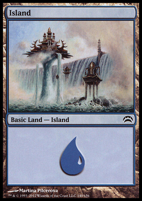 Island (140)  card from Planechase 2012 Edition