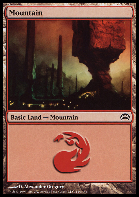 Mountain (149)  card from Planechase 2012 Edition