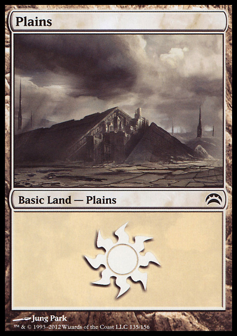 Plains (135)  card from Planechase 2012 Edition