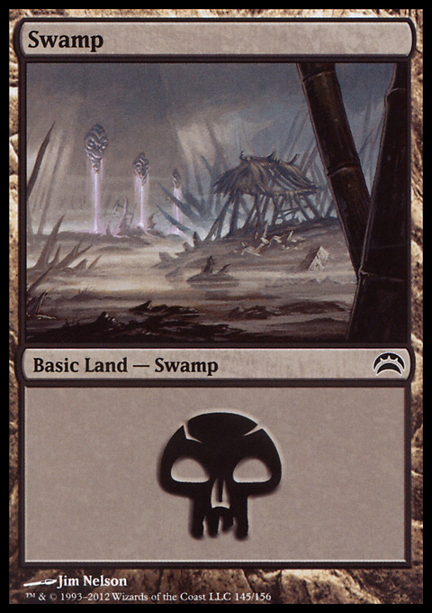 Swamp (145)  card from Planechase 2012 Edition