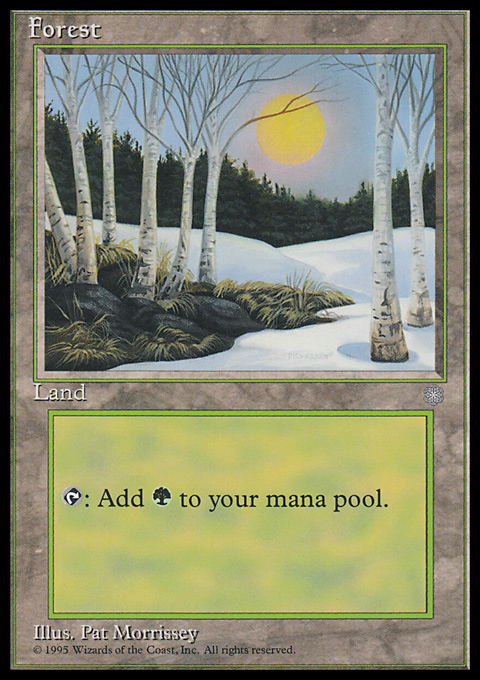 Forest (328) card from Ice Age