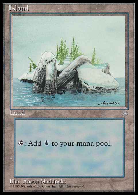 Island (336) card from Ice Age
