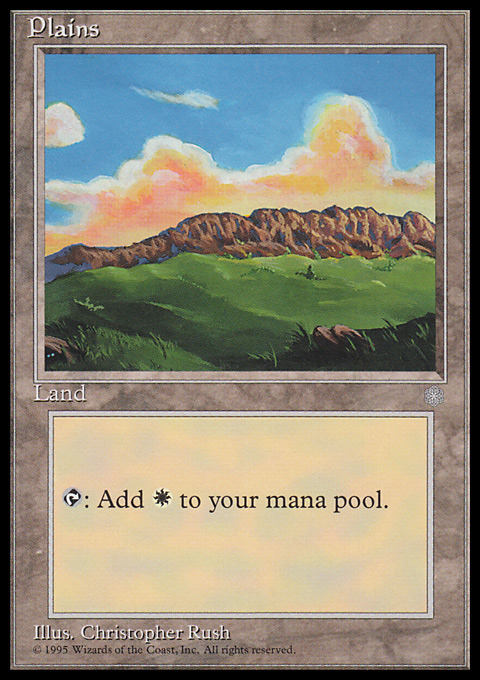 Plains (343) card from Ice Age