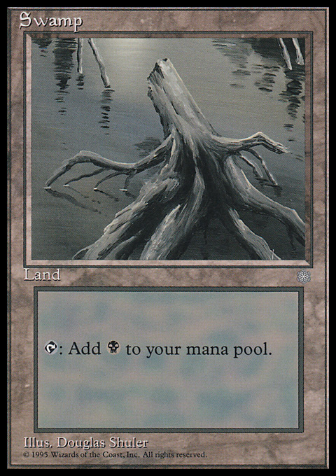 Swamp (355) card from Ice Age