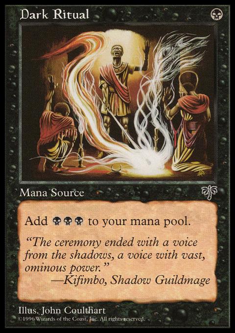 Dark Ritual card from Mirage