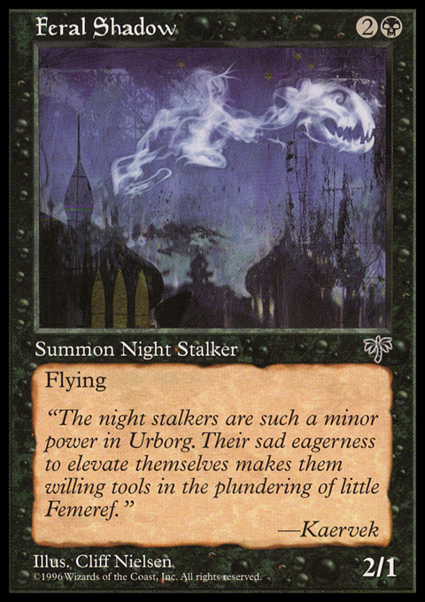Feral Shadow card from Mirage