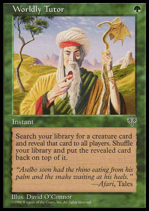 Worldly Tutor original card image