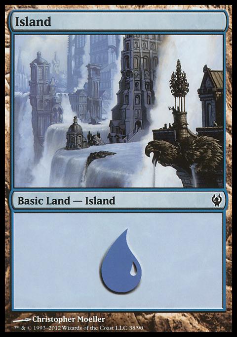 Island (38)  card from Duel Decks: Izzet vs. Golgari