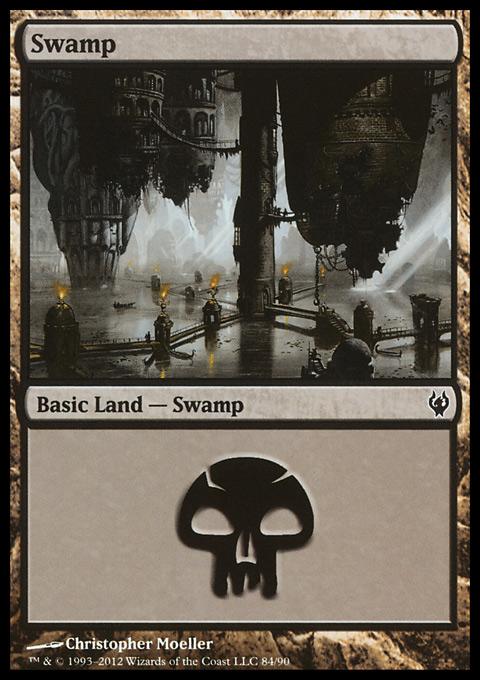 Swamp (84)  card from Duel Decks: Izzet vs. Golgari