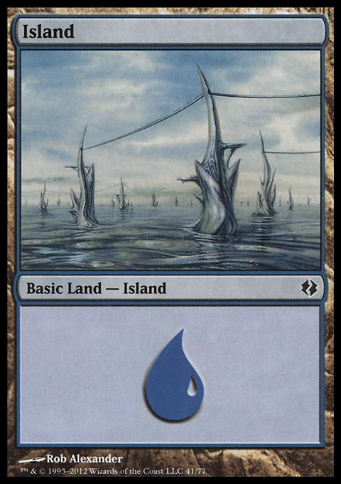 Island (41)  card from Duel Decks: Venser vs. Koth