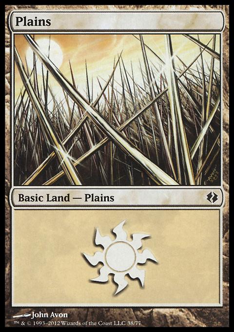 Plains (38)  card from Duel Decks: Venser vs. Koth