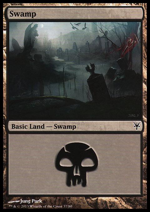 Swamp (37) card from Duel Decks: Sorin vs. Tibalt