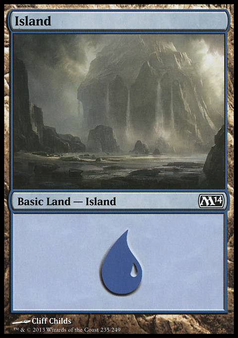 Island (235) card from Magic 2014 Core Set