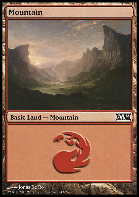 Mountain (243) card from Magic 2014 Core Set