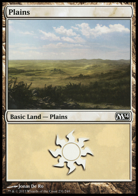 Plains (231) card from Magic 2014 Core Set