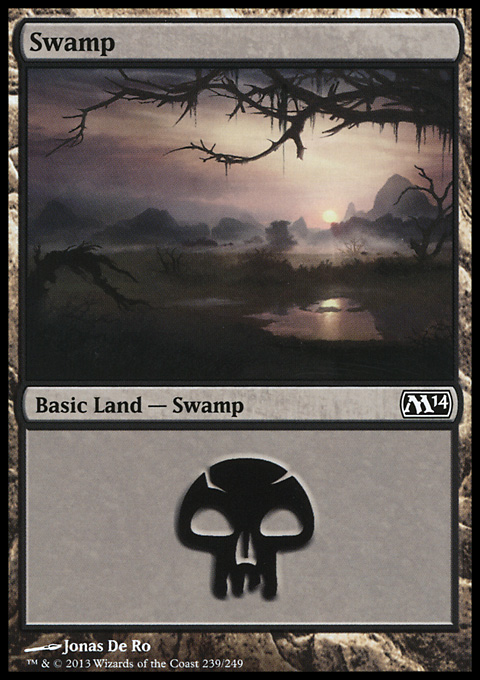 Swamp (239) card from Magic 2014 Core Set