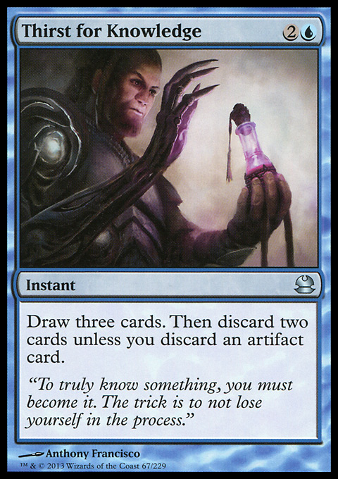 Thirst for Knowledge card from Modern Masters