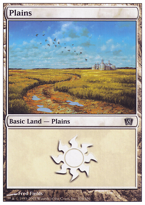 Plains (334)  card from Eighth Edition