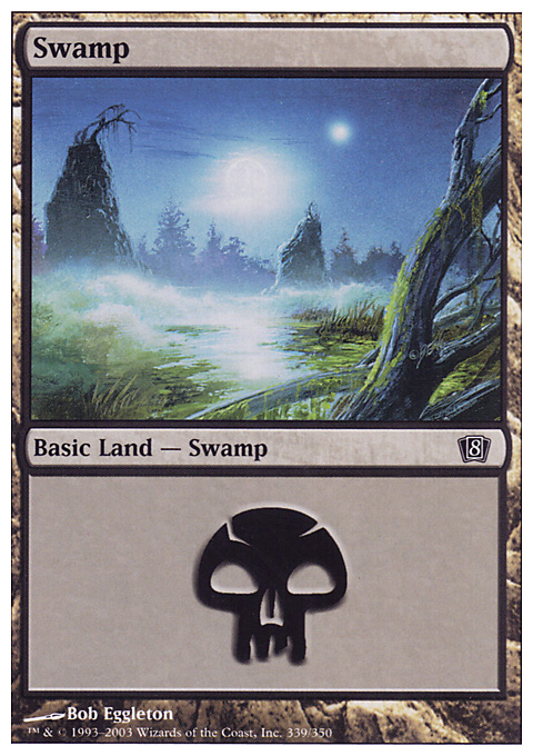 Swamp (339)  card from Eighth Edition
