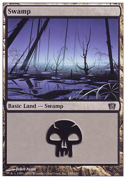 Swamp (340)  card from Eighth Edition