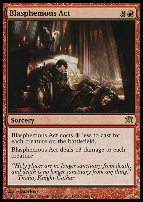 Blasphemous Act original card image