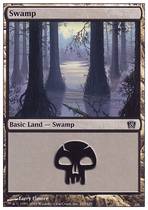 Swamp (342)  card from Eighth Edition