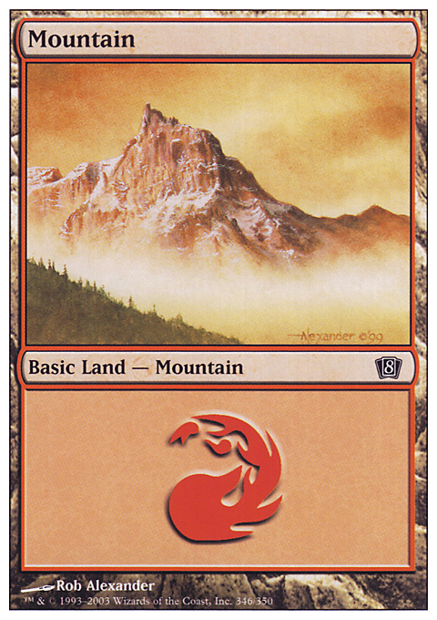 Mountain (346)  card from Eighth Edition