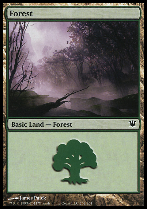 Forest (262) card from Innistrad