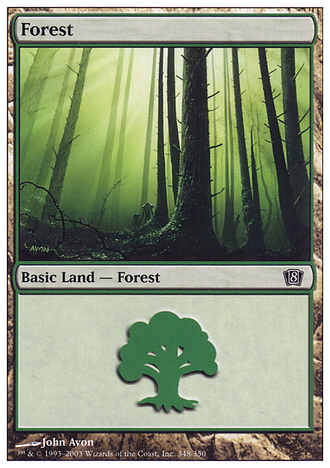 Forest (348) card from Eighth Edition