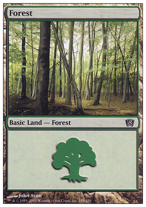 Forest (349) card from Eighth Edition