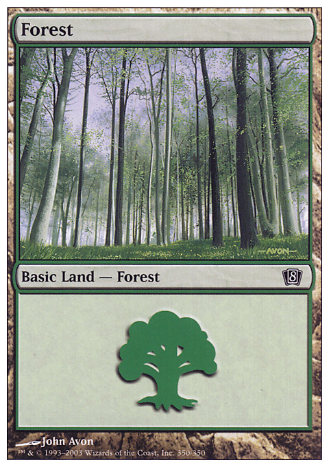 Forest (350) card from Eighth Edition