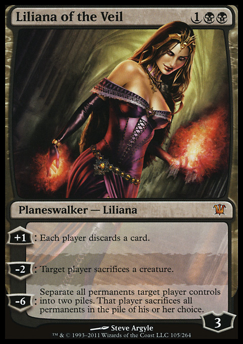Liliana of the Veil original card image