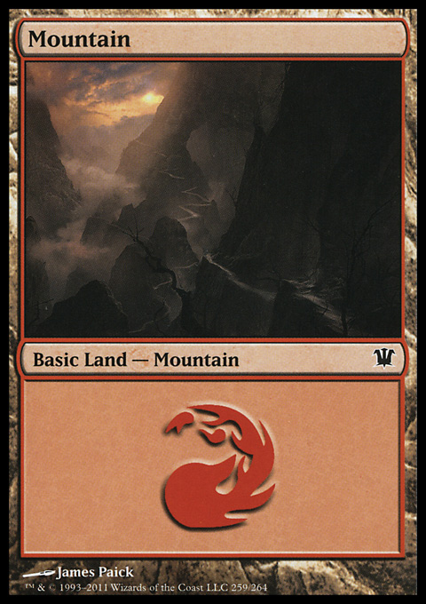 Mountain (259) card from Innistrad