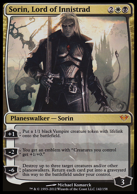 Sorin, Lord of Innistrad original card image