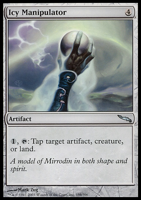 Icy Manipulator card from Mirrodin