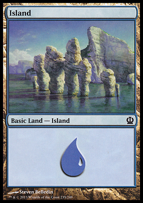 Island (235) card from Theros