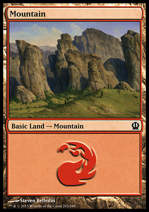 Mountain (243) card from Theros