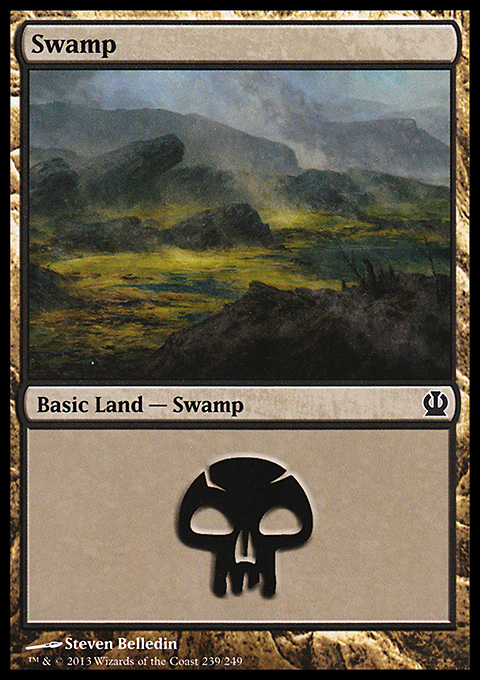 Swamp (239) card from Theros
