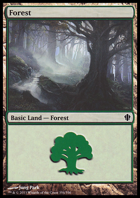 Forest (354) card from Commander 2013 Edition