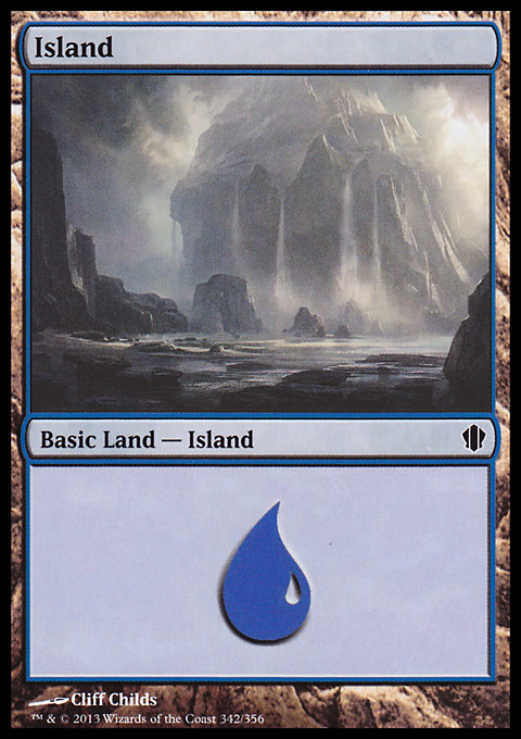 Island (342) card from Commander 2013 Edition