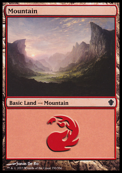 Mountain (350) card from Commander 2013 Edition