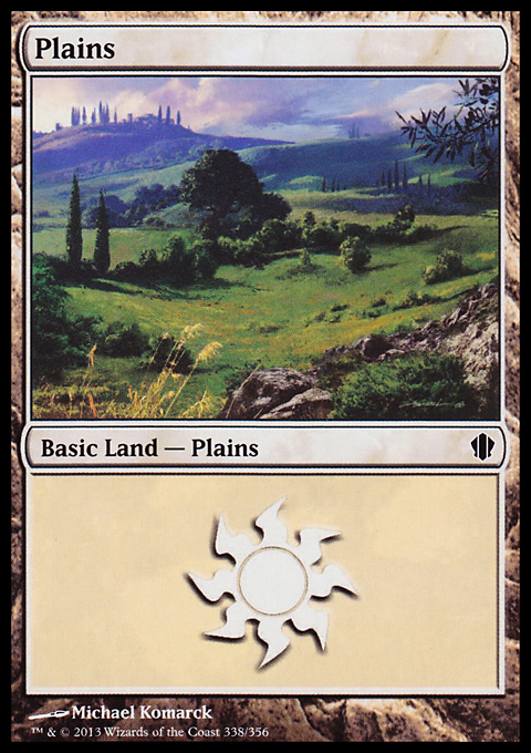 Plains (338) card from Commander 2013 Edition