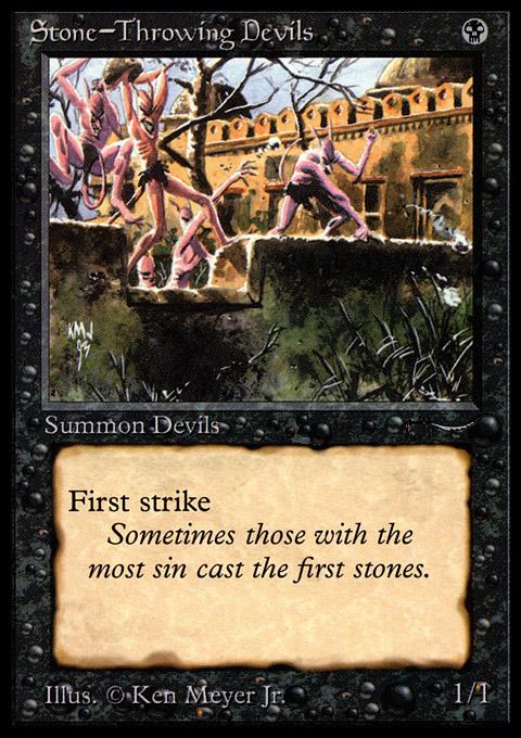 Stone-Throwing Devils