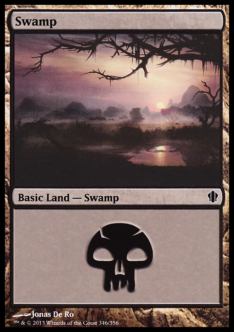 Swamp (346) card from Commander 2013 Edition